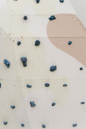 Rock climbing wall Stock Photo