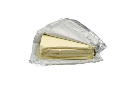 Cream cheese pack Stock Photo