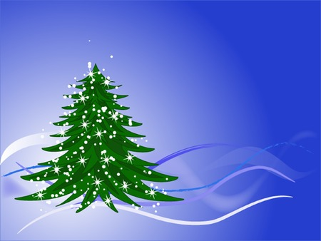 asterisks: Christmas tree with snowflakes and asterisks, wallpapers