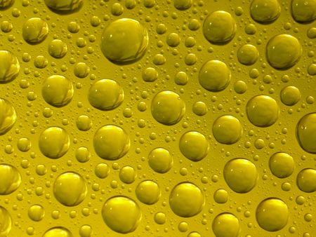 drops on the yellow background