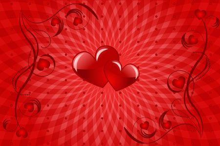 infatuation: heart love abstraction decorative pattern romance stylized sweetheart valentine Stock Photo