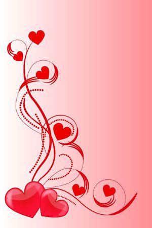 heart love abstraction decorative pattern romance stylized sweetheart valentine photo