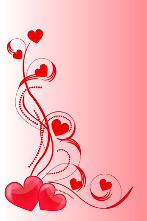 amorousness: heart love abstraction decorative pattern romance stylized sweetheart valentine Stock Photo