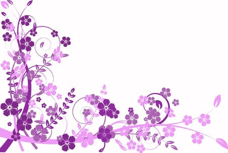 infatuation: lilac flower abstraction, pattern elegance curves