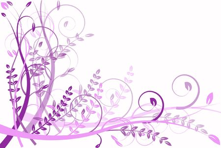 lilac flower abstraction, pattern elegance curves