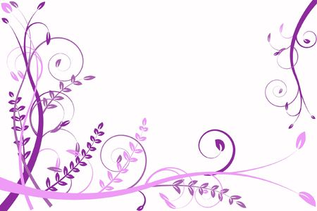 amorousness: lilac flower abstraction, pattern elegance curves