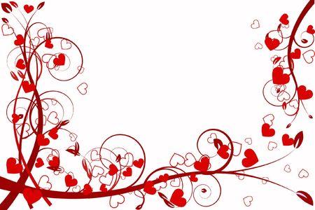 cuore amore astrazione motivo decorativo romanticismo innamorato stilizzato giorno San Valentino  Archivio Fotografico - 6286549