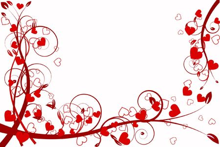 beautifully: heart love abstraction decorative pattern romance stylized sweetheart day valentine