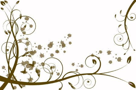 infatuation: gold flower abstraction, pattern elegance curves