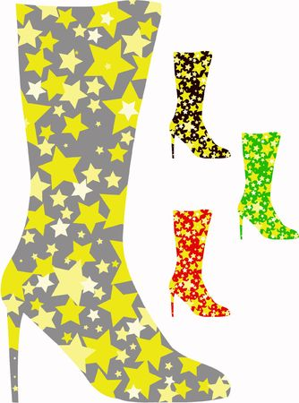 knee-boots with stars