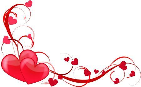 heart love abstraction decorative pattern romance stylized sweetheart valentine Stock Photo - 6286546