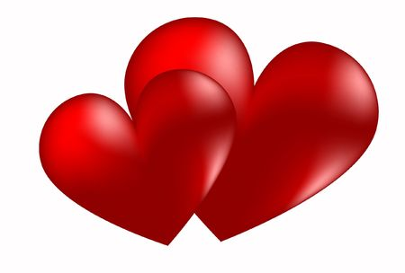 red heart day valentine romance stylized beautiful Stock Photo - 6292260