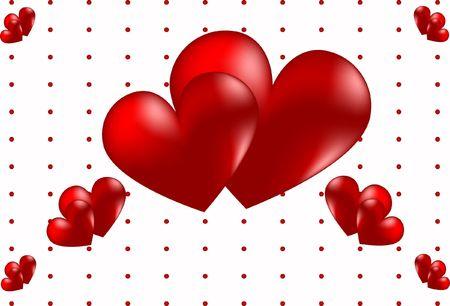 red heart day valentine romance stylized beautiful Stock Photo - 6292262