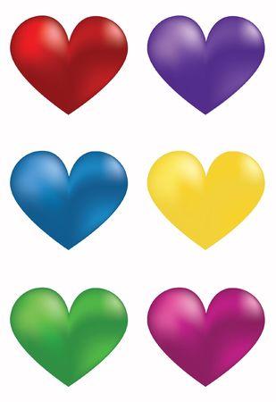 red heart day valentine romance stylized beautiful Stock Photo - 6292264