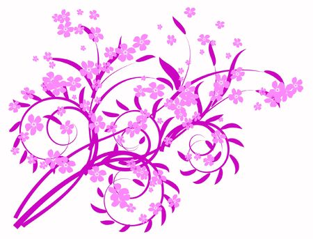 amorousness: lilac abstraction decorative pattern flowers
