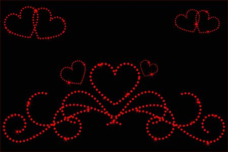 amorousness: heart love stars abstraction decorative pattern