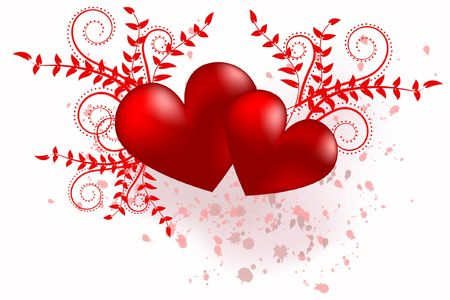 Red heart abstraction in valentine day, romance decoratively pattern Stock Photo - 6343780