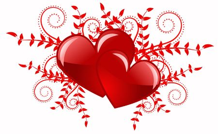 Red heart abstraction in valentine day, romance decoratively pattern Stock Photo - 6343790
