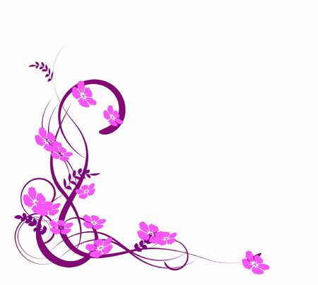 amorousness: lilac abstraction, pattern elegance curves Stock Photo