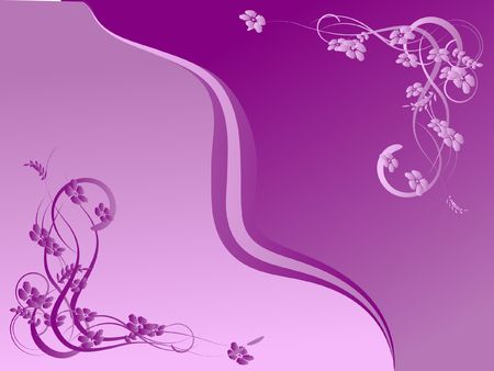 lilac abstraction, pattern elegance curves Stock Photo - 6480927