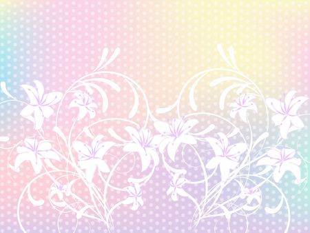 decoratively: flower pattern decoratively romantically abstraction illustration