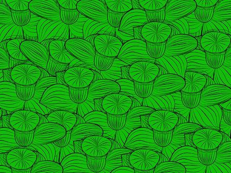 flower pattern decoratively romantically abstraction illustration Stock Illustration - 7071585