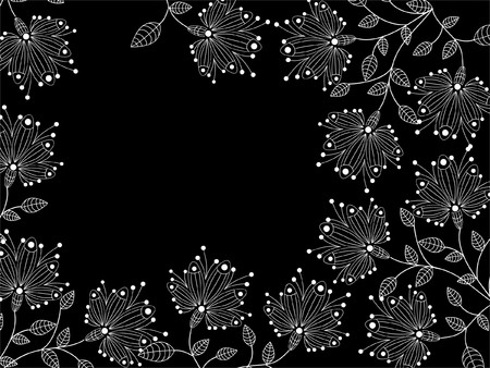 flower pattern decoratively romantically abstraction illustration Stock Illustration - 7071573
