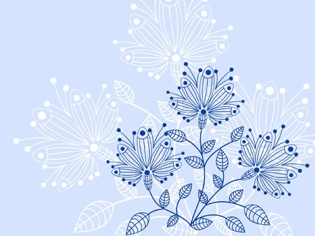 romantically: flower pattern decoratively romantically abstraction illustration