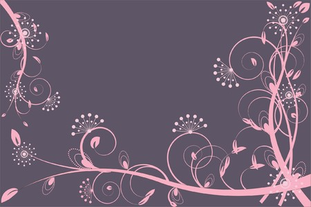 decoratively: flower decoratively romantically abstraction illustration