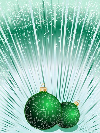Christmas ball decorative abstraction background Stock Photo - 7772210