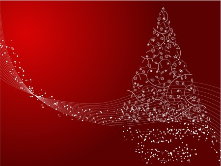 Christmas tree decorative abstraction background photo