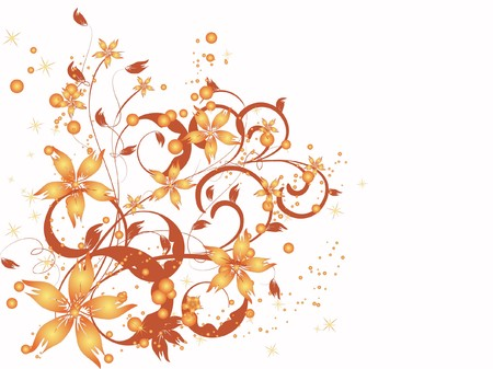 romantically: flower decoratively romantically abstraction illustration