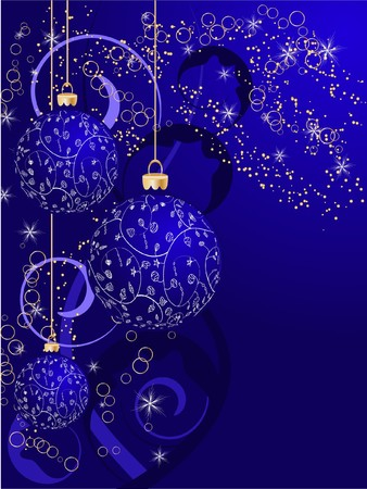 Christmas ball decorative abstraction background photo