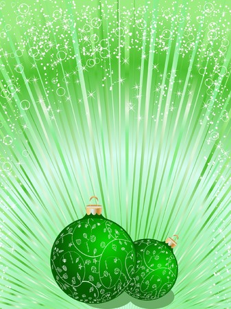 Christmas ball decorative abstraction background Stock Photo - 7772260