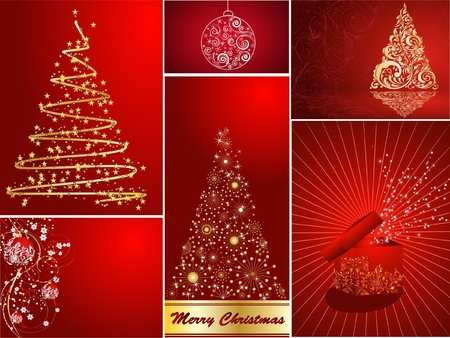 set of Christmas cards Stock Vector - 8293512