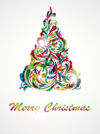 Christmas tree decorative abstraction background Vector