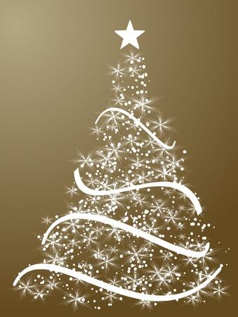 merrily: stylized Christmas ball on decorative background Illustration