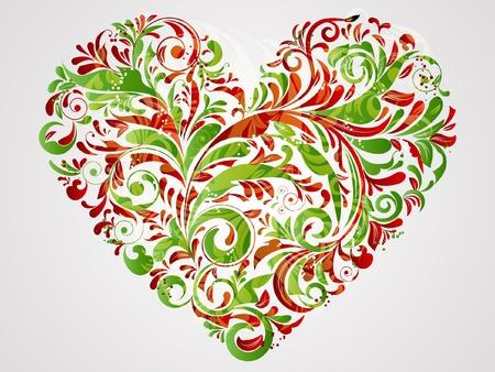 saint valentines: cuore floreale per Santo valentines day