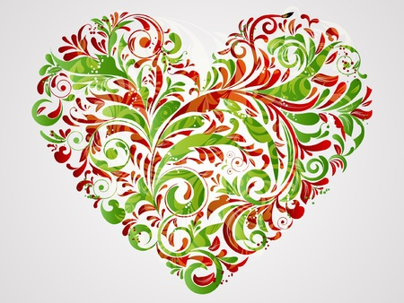 floral heart for saint valentines day Vector