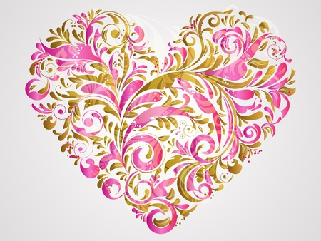 floral heart for saint valentines day