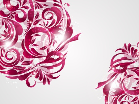romantically: floral decoratively romantically abstraction illustration
