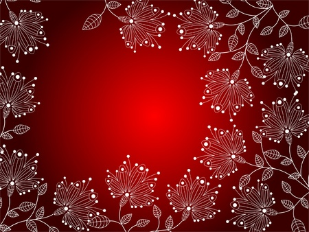 flower decoratively romantically abstraction illustration Vector
