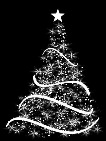 merrily: stilizzato palla di Natale su uno sfondo decorativo Vettoriali