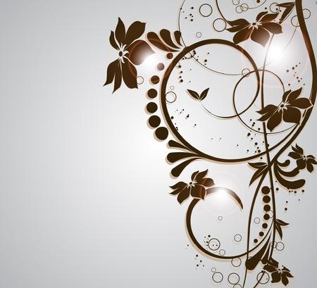 abstrakcje: kwiat decoratively zwiÄ…zana abstrakcji ilustracji Ilustracja