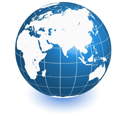 earth world map in vector Illustration