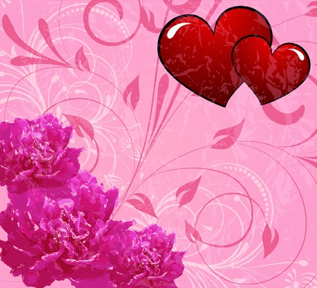 romantically: pink flower decoratively romantically abstraction illustration