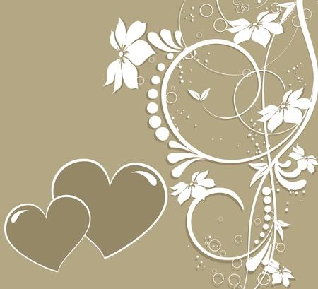 saint valentines: San Valentino cuore floreale astratto Vettoriali