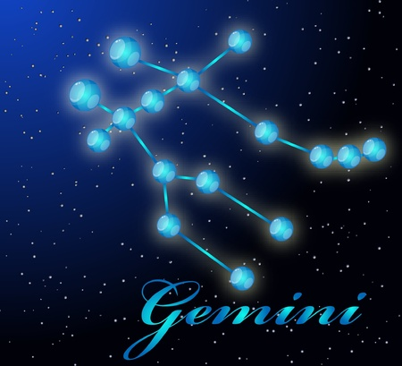 Gemini astrological horoscope Stock Vector - 8961195