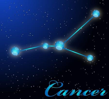 Cancer astrological horoscope Stock Vector - 8961180