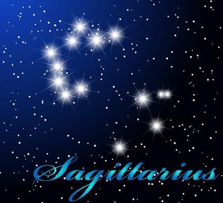 Sagittarius astrological horoscope Stock Vector - 9293570